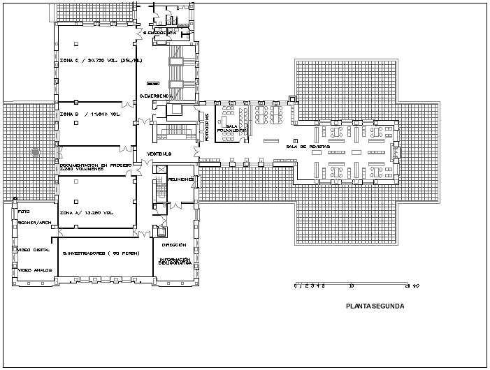 Plano for Planta arquitectonica biblioteca
